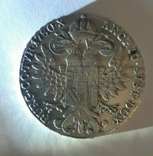 silver coin M. THERESIA of AUSTRIA .833 SILVER Coin 1780 real authentic photo