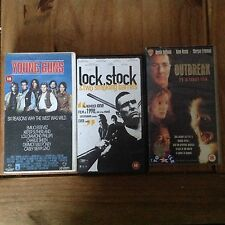 VHS Tapes Job Lot Young Guns, Outbreak, Lock Stock And Two Smoking Barrels