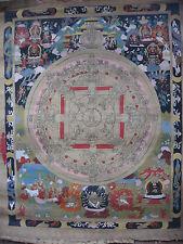 Old Hand Painted Tibetan Buddha Mandala Thangka, Nepal