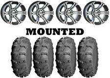Kit 4 ITP Mud Lite XL Tires 26x9-12/26x10-12 on ITP SS212 Machined Wheels IRS