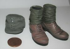 """Dragon 1/6th Scale WW2/WWII German  Ankle Boots & Cap """"Werner Krieg"""""""