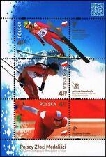 Polska Poland 2014 Fi BLOK 230 Mi BLOCK 225 MNH Polscy Złoci Medaliści