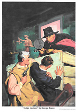 """The Shadow """"Judge Lawless Cover Art Print by George Rozen 10"""" x 7"""" Conde Nast"""