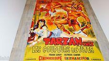 TARZAN CHEZ LES COUPEURS DE TETES !   affiche cinema 1962
