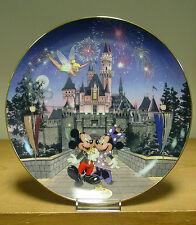 Bradford Exchange Plate - Sleeping Beauty Castle - Disneylands 40th Anniversary