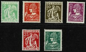 Belgium 1932 New Daily Stamps - Complete Set Of Six - MUH/MLH