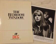 THE BEDROOM WINDOW (1987) Press Kit Folder, Photos; Elizabeth McGovern; Thriller