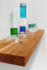 Solid Oak Floating Shelf - Oak 600mm X 200mm X 40mm - Wooden Shelves