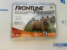 Frontline Plus Flea Lice larvae eggs Tick Spot On Dog 0-22 Lb 3 Pack Waterproof