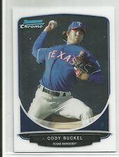 Cody Buckel Texas Rangers 2013 Bowman Chrome Mini Card