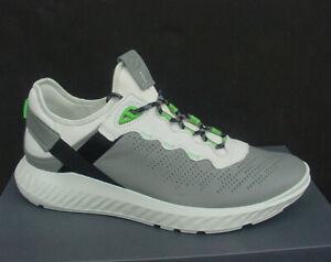 Ecco Men's Sneaker Gray/White Light Leather St. Street 1 Sz 9/9.5 - 12/12.5 NIB