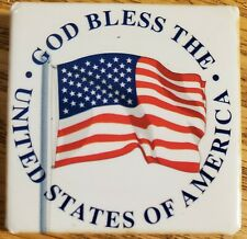 American Flag button - God Bless the United States of America - pinback pin 2001