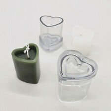 DIY Heart Shaped Mould Scented Candle Aromatherapy Mold Soap Making Craft
