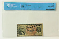 1863 25 Cents Bank Note USA • Allison Spinney • 40 mm Red Seal • CCCS F-15