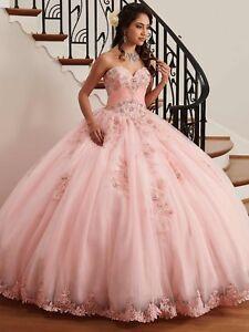 New Ball Gown Quinceanera Dress Free Bolero Prom Dress Beads Lace Sweet 16 Dress