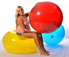 5x UNIQUE 290er (93cm Ø) Riesen- Luftballon +ballrund+ Riesen- Ballon CRYSTAL