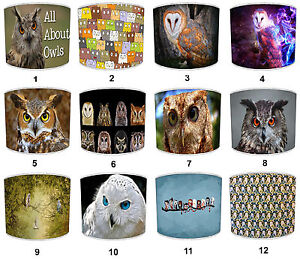 Owl Lampshades, Ideal To Match Owls Duvets, Owl Cushions Bird Wall Decals