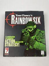 TOM CLANCY'S RAINBOW SIX PC Big Gatefold Box w/ Manual Working