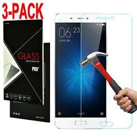 3 Pack 9H+ Premium Tempered Glass Screen Protector Guard Film for Xiaomi Phone