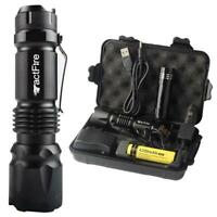 90000/20000/10000Lumens Zoom LED Flashlight Torch Rechargeable 18650 Lamp Light