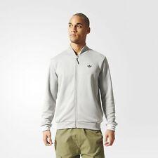 NEW MEN'S LARGE  adidas Originals  SPORT LUXE  BOMBER TRACK TOP JACKET Gray