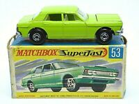 Matchbox Lesney No.53c Ford Zodiac Mk.IV In G2 With 'NEW'Box (RARE LIME GREEN)