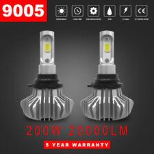 9005/HB3 200W 20000LM LED Fanless Headlight Bulb Kit High Beam Foglight 6500K 7F