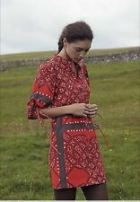 ANTHROPOLOGIE MOULINETTE SOEURS 100% silk Maeshowe boho festival dress S 4 EUC