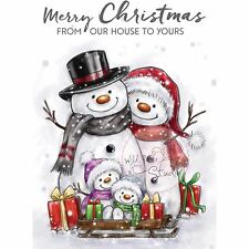Christmas Snowmen Presents Unmounted Rubber Stamps WILD ROSE STUDIO New, CL496