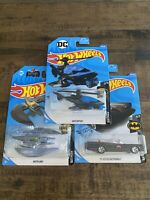 Hot Wheels TV Series Batmobile, Batcopter, Batplane ~Lot Of 3~ Brand New~Sealed