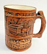 Walt Disney World Production Vintage Coffee Mug Wooden Look Cup Horse Carriage
