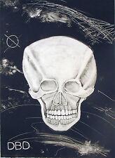 """Rudy Fernandez """"Death Dishonor, 200i,"""" B&W Monotype"""