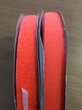 Sew On Hook/Loop 25mm 25m Full Reels Orange Hi-Vis