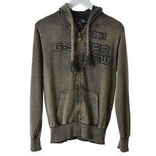 G-Star Men hoodie Jacket Size XL grey Sweatshirt  Zip Front long sleeves Outwear