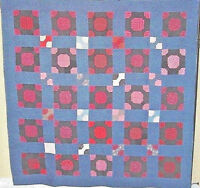 COUNTRY AMERICANA ANTIQUE QUILT INDIGOS AND EARLY PRINTS NEAR MINT 1880s