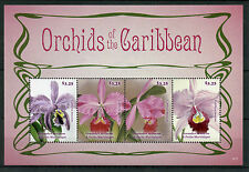 Grenadines Grenada 2014 MNH Orchids of Caribbean 4v M/S I Flowers Stamps