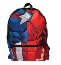 Marvel Avengers Quad Hero Torso Black Childrens Backpack School Bag Rucksack