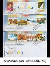 SRI LANKA - 2011 WORLD DAY TOURISM DAY - FDC 3nos SET