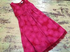 Girls Old Navy Sz S 6-7 Red Pink Pilka Dot Tulle Lined Dress