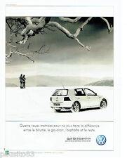 PUBLICITE ADVERTISING 046  2000  Volkswagen  la Golf  tdi 115 4 motion