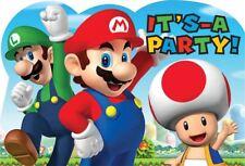 8pk Nintendo Super Mario Bros & Friends Children's Party Invitation Postcards