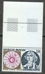 France 1974 MNH Mi 1890 Sc 1416 Nicolaus Copernicus ,Polish astronomer ** Tab