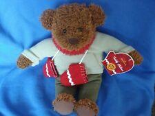 "2002 Hallmark Teddy Mittens 100 Year Anniversary Plush 12"" Toy Bear"