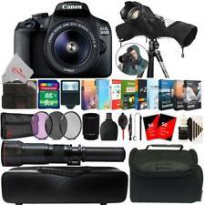Canon EOS 2000D 24.1MP DSLR Camera + 18-55mm & 650-1300mm Lens Accessory Kit
