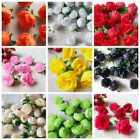 Lot 10PC Artificial Fake Silk Flowers Head Floral Garland DIY Wedding Home Decor
