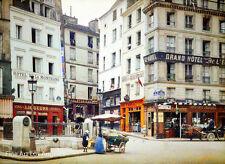 Autochrome Photo, Rue de la Montagne Ste. Genevieve, Paris 1900s