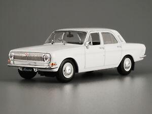 VOLGA GAZ-24 White Classic Soviet Car 1/43 Scale Collectible Diecast Model 1967