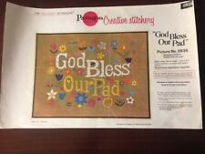 Vintage 70's Paragon Needlecraft Kit God Bless Our Pad #0936 Instructions Only