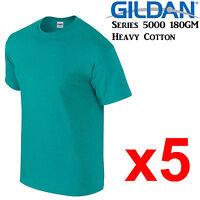 Gildan T-SHIRT Antique Jade Green blank tee S M L XL 2XL big Men's Heavy Cotton