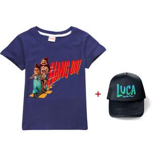 Luca Boys Girls Tshirt Hoodies Kids Casual Hooded Top Tee Christmas Gift+Sun Hat